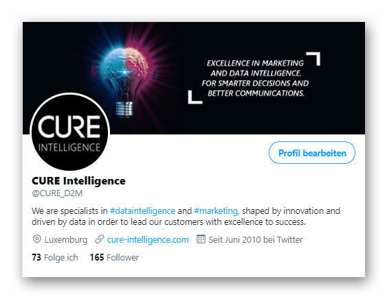CURE Intelligence Twitter Biographie